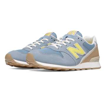 New Balance 696 Lakeview, Grey with Light Yellow & Tan