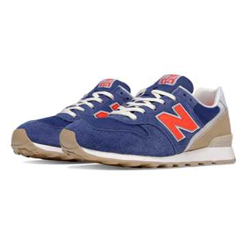 New Balance 696 Lakeview, Navy with Red & Tan