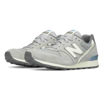 New Balance 696 Summer Utility, Silver Mink with Icarus Blue