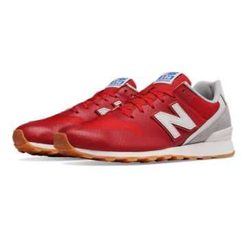 New Balance 696 Re-Engineered, Red with Light Grey