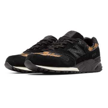 New Balance 999 Plastic Weave, Black with Gold