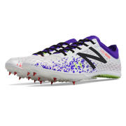 NB MD800v5 Spike, White with Purple