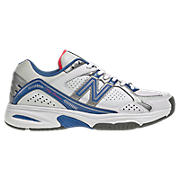 New Balance 1100, White with Blue & Orange