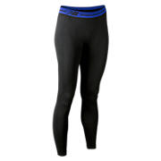 Base Layer Legging, Black with Blue