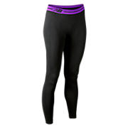 Base Layer Legging, Black with Purple