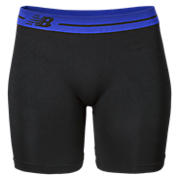 Base Layer Short, Black with Blue