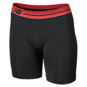 Base Layer Short, Black with Red