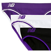 Seamless Bikini (3 pack), Purple with Black & White