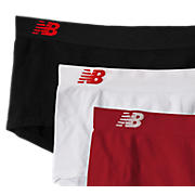 Seamless Boy Short (3 pack), Red with Black & White