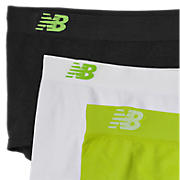 Seamless Boy Short (3 pack), Burnt Henna with Black & White