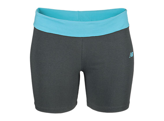 After Workout Short, Grey with Bachelor Button