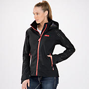 New Balance Adele Jacket, Caviar with Fiery Coral