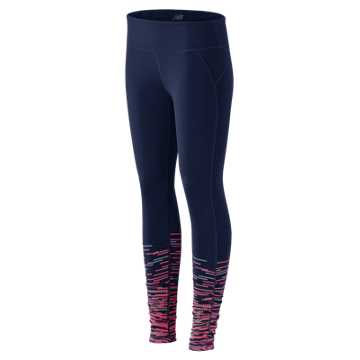 New Balance Performance Printed Tight, Navy Print