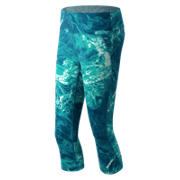 New Balance Performance Printed Capri, Water Vapor with Sea Glass