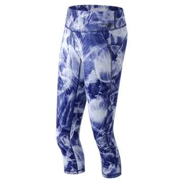 New Balance Premium Performance Print Capri, Basin Multi
