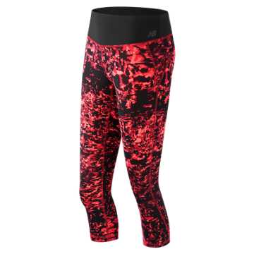 New Balance Premium Performance Print Capri, Dragonfly Multi