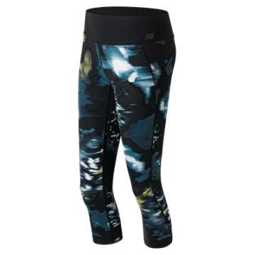New Balance Urban Floral Capri, Galaxy with Firefly & Castaway