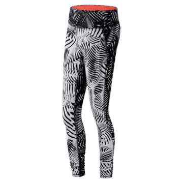 New Balance Printed Performance Tight, Black with White