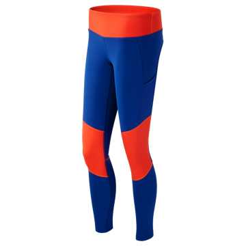 New Balance J.Crew Fashion Tight, Fireball with Electric Blue