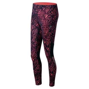 New Balance Printed Impact Tight, Guava Print with Galaxy