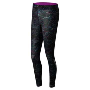 New Balance Printed Impact Tight, Castaway Multi with Fusion