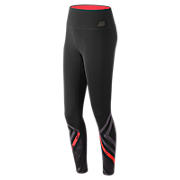 High Rise Transform Printed Tight, Black Multi with Red & Grey