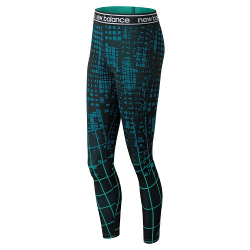 New Balance Printed Accelerate Tight Girl's Performance - WP81136LKB