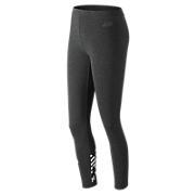 Essentials Cotton Legging , Heather Charcoal