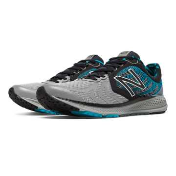 New Balance Vazee Pace v2 NYC, Black with Metallic Silver & Blue Infinity