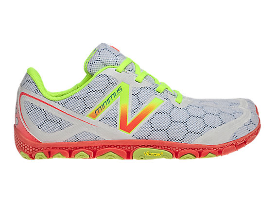 Minimus 10V2, White with Coral & Neon Yellow