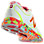 Womens Tie Dye 1400, White with Yellow & Orange