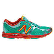 New Balance 1400, Pool Green with Orange Burst & White