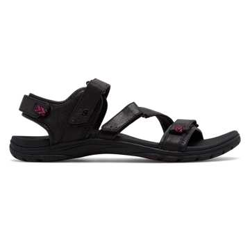 New Balance Maya Sandal, Black with Pink