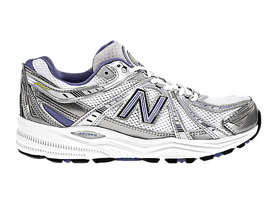 New Balance 840, White with Blue & Silver