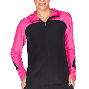 Sequence Hooded Jacket, Pink Shock with Black