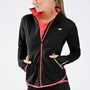 Windblocker Jacket, Black with Sulphur Spring & Fiery Coral