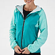 Sequence Hooded Jacket, Capri Breeze with Black