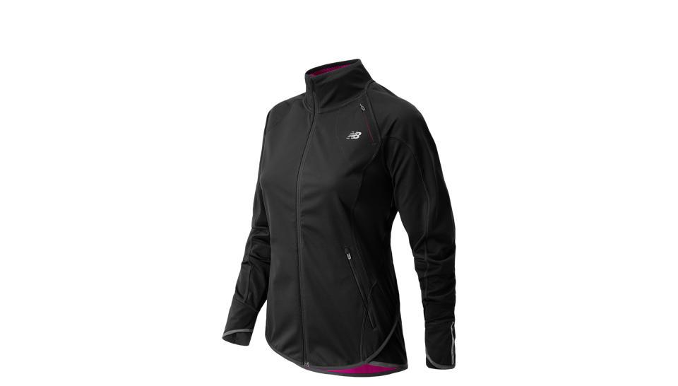 Windblocker Jacket, Black with Poisonberry
