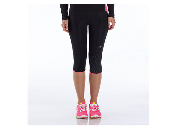 Impact Capri, Black with Pink Shock