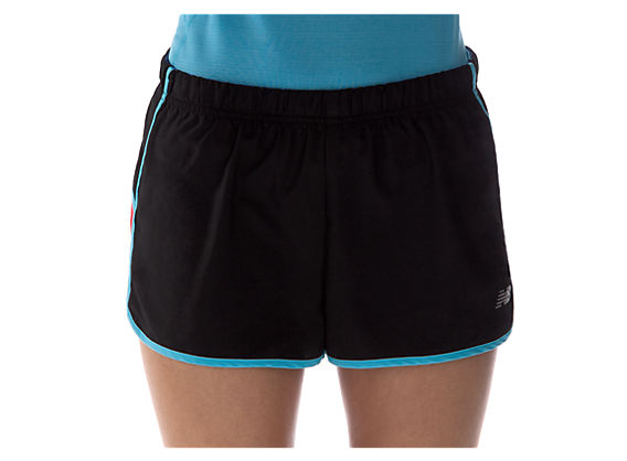 Momentum Short, Black with Blue Atoll