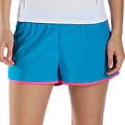 Momentum Short, White with Pink & Kinetic Blue