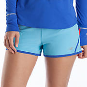 Impact 3 inch Run Short, Blue Atoll with Dazzling Blue
