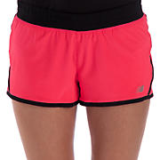 Impact 3 inch Run Short, Diva Pink with Black