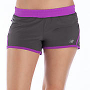 Impact 3 inch Run Short, Magnet with Purple Cactus Flower
