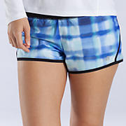 "Impact 3"" Graphic Run Short, Blue Atoll with Black"