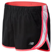 Accelerate Short, Black with Bright Cherry & White