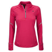NBx Half Zip, Raspberry with Black