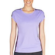 Icefil Short Sleeve, Violet Tulip with Blackberry Cord