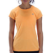 Heathered Short Sleeve, Orange Pop