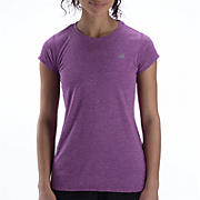 Heathered Short Sleeve, Purple Cactus Flower